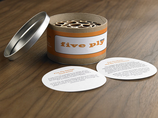Hardwood Graphic Coasters - Dinner Party