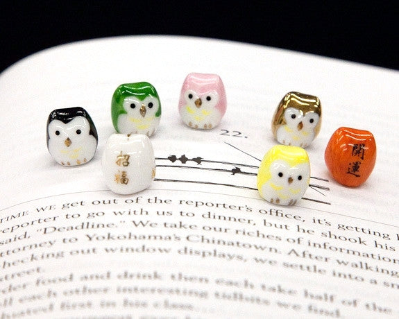 Tiny Lucky Owls in 7 Colors