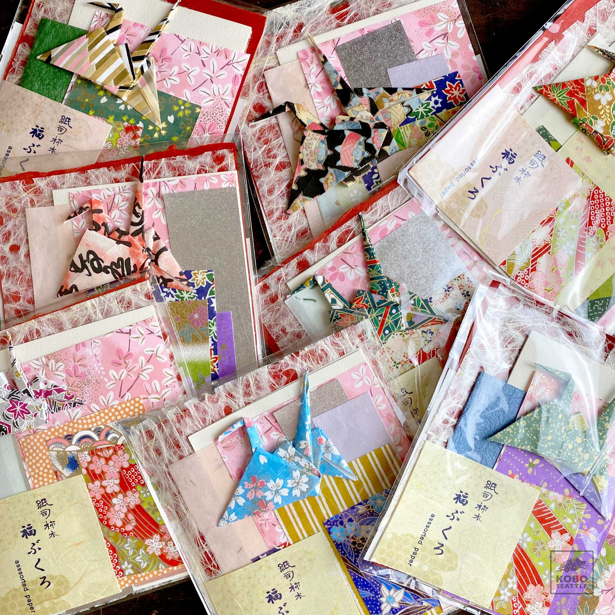 Assorted Japanese Papers Packs (Fukubukuro)
