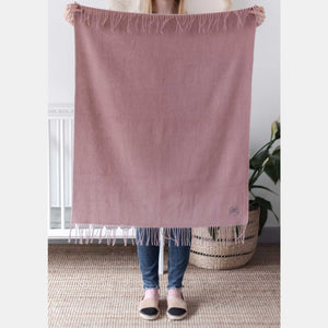 Softest Lambswool Baby Blanket - Light Pink