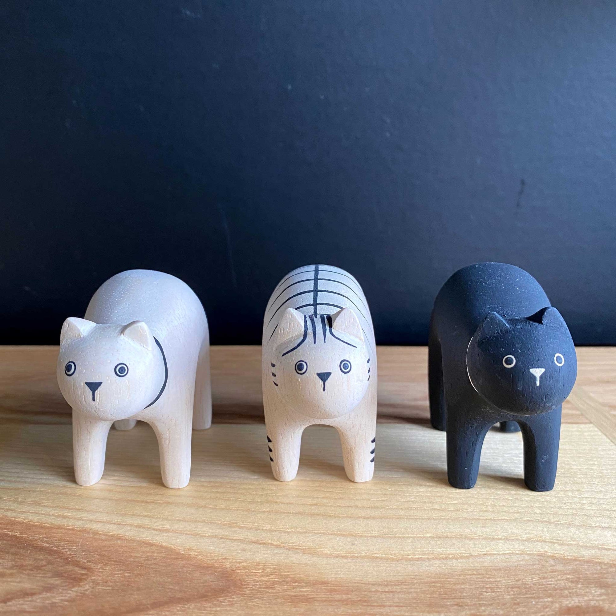 Hand Crafted Wood Figures: Cats