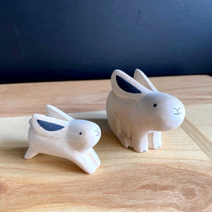 Hand Crafted Wood Figures: Animal Parent and Child Set