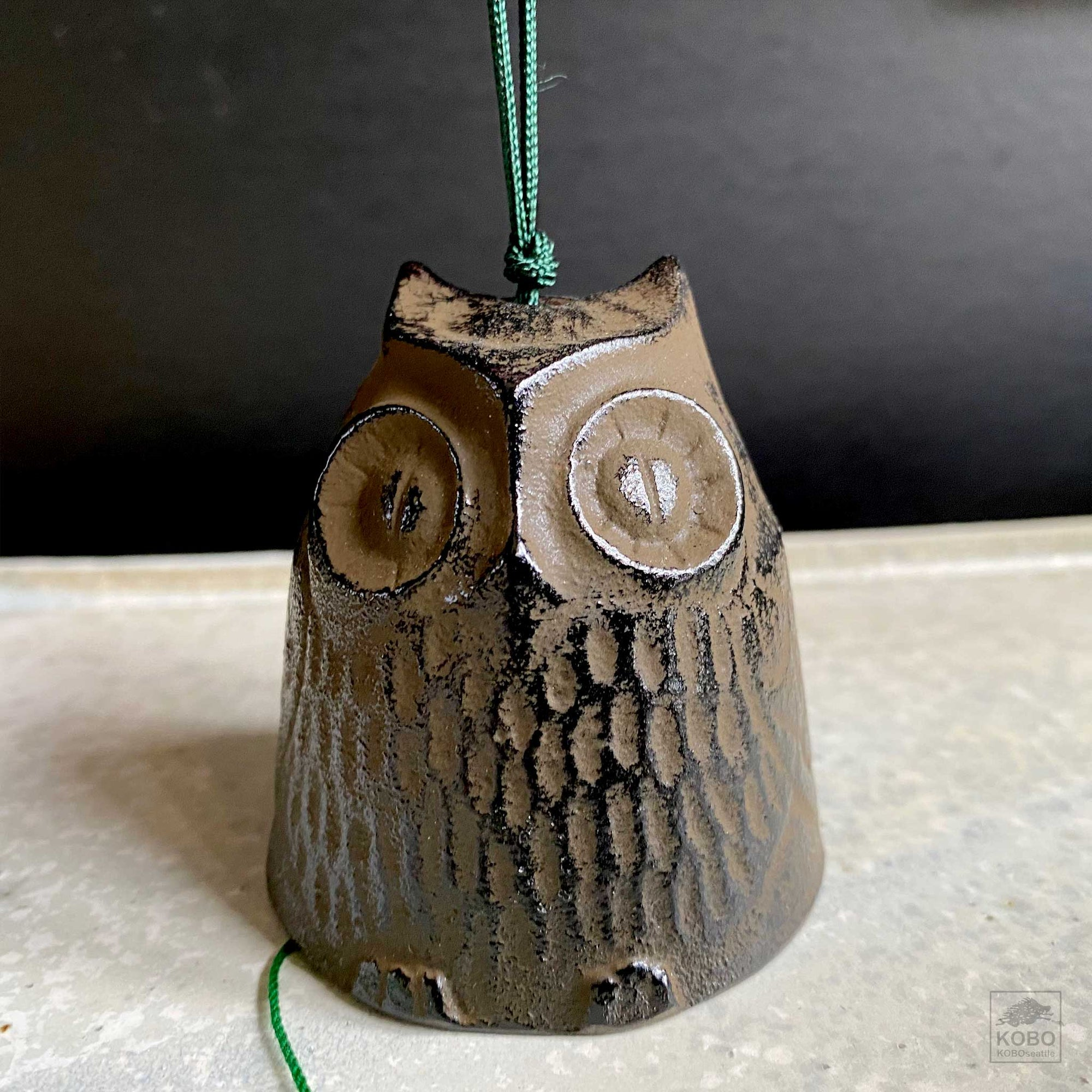Owl Wind Chime Large Brown