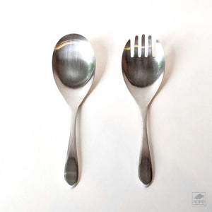 Stainless Steel Serving Spoon and Fork