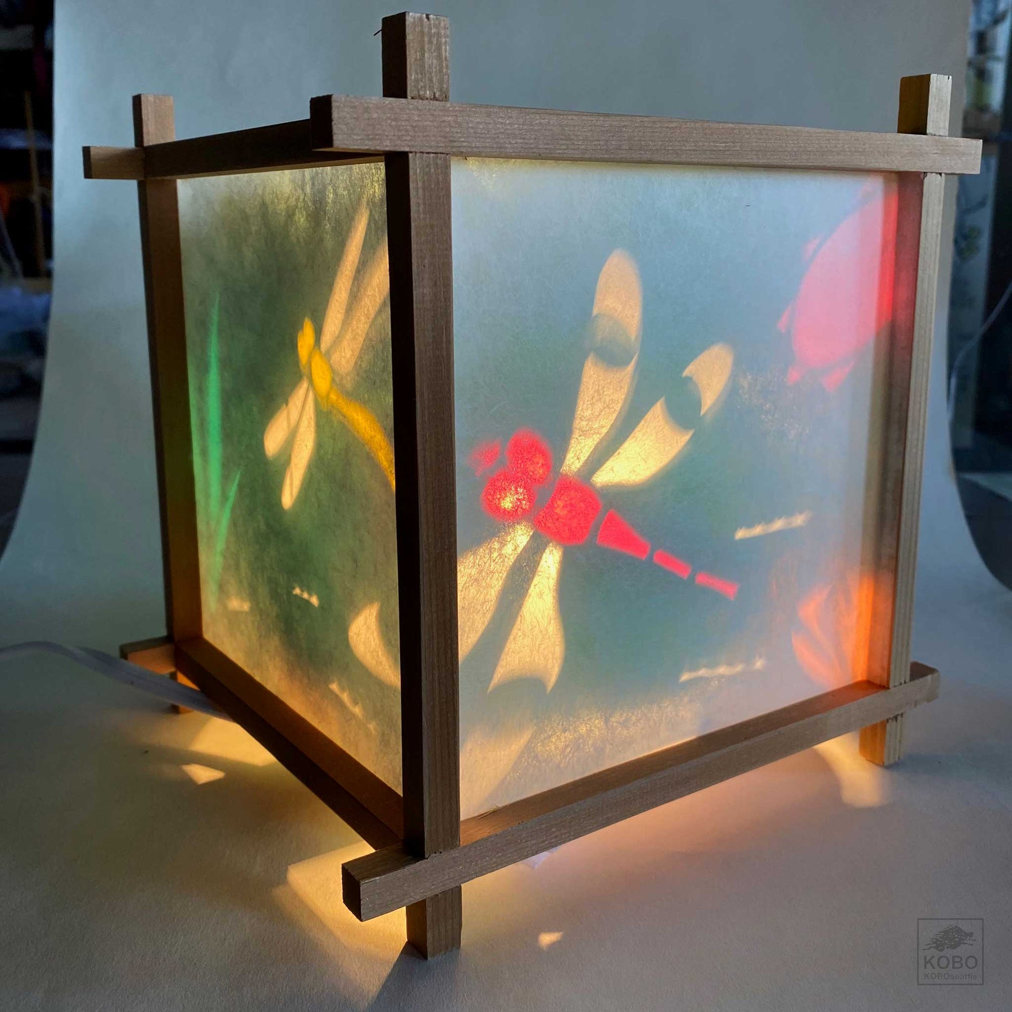 Japanese Turning Lantern - Dragonflies
