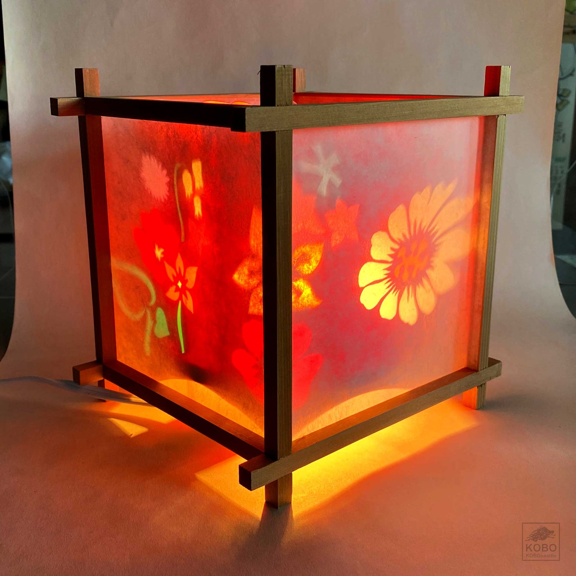 Japanese Turning Lantern - Flowers