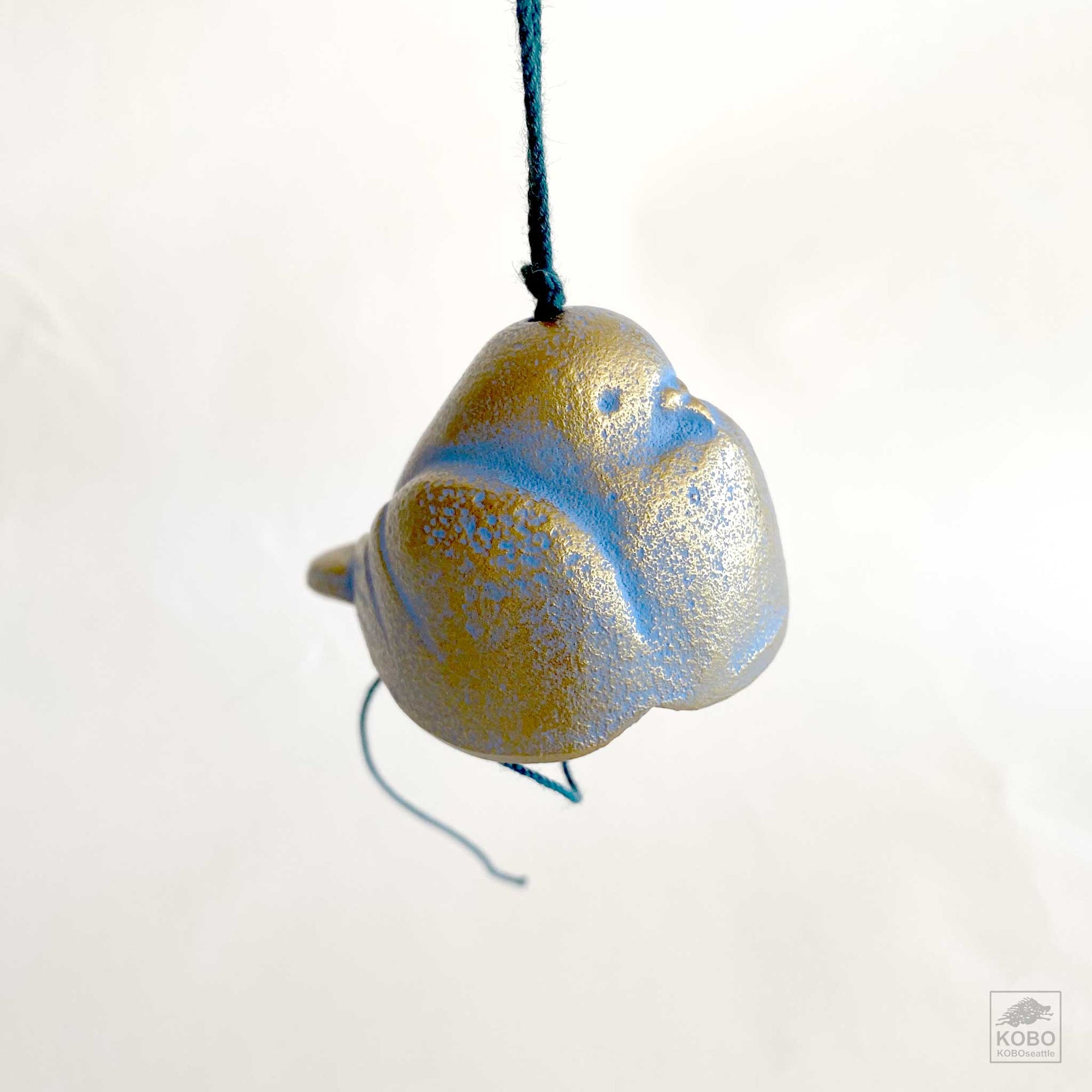 Dove Wind Chime - blue/gold
