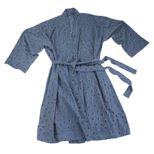 Block Printed Cotton Robe - 5 pattern options
