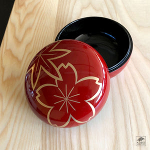 Heiando Japanese Lacquer Accessory Box - Seasonal Changes/Shunju