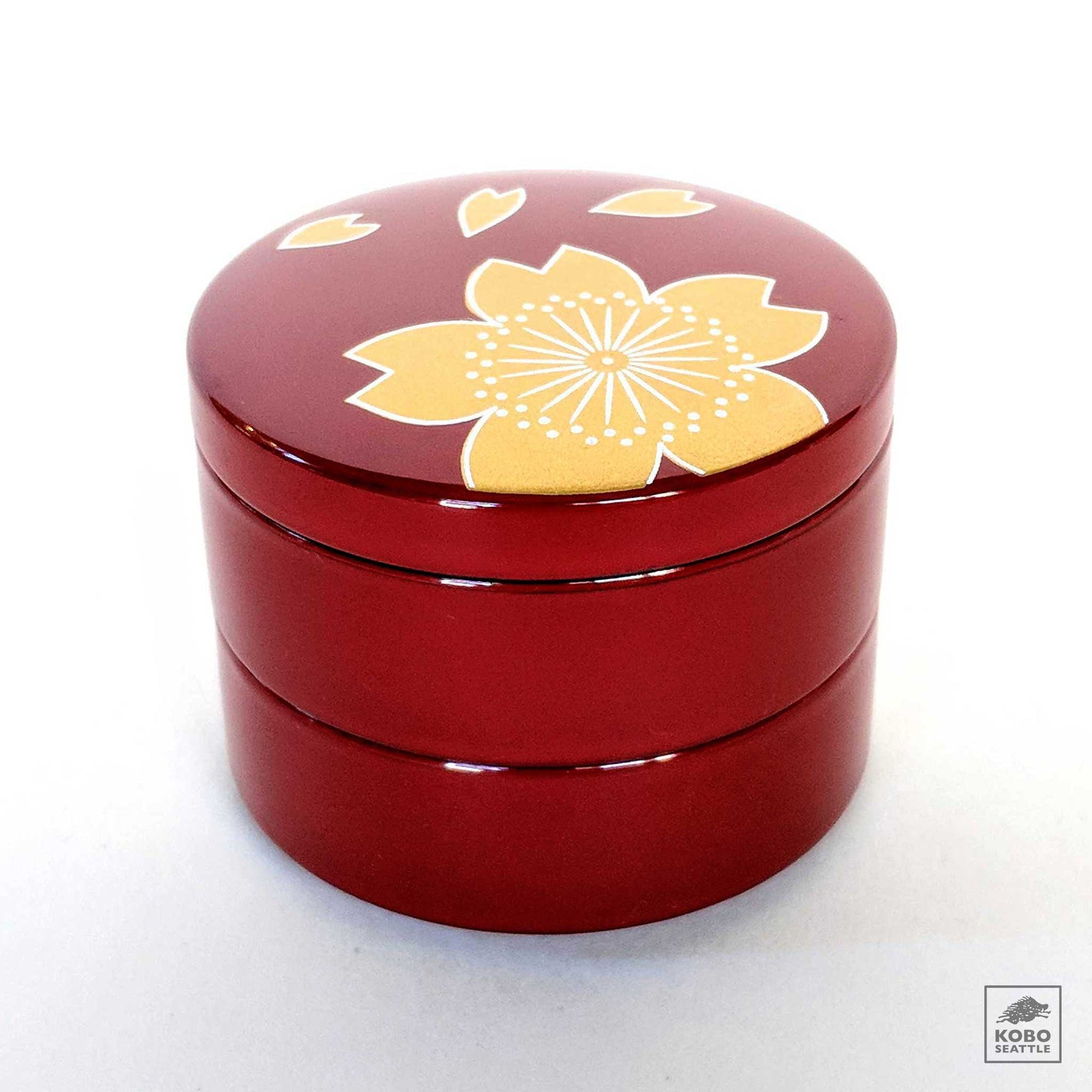 Heiando Japanese Lacquer Accessory Box - Red Sakura