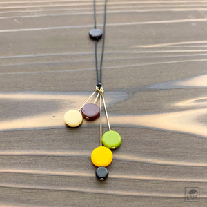 Retro Disks Necklace