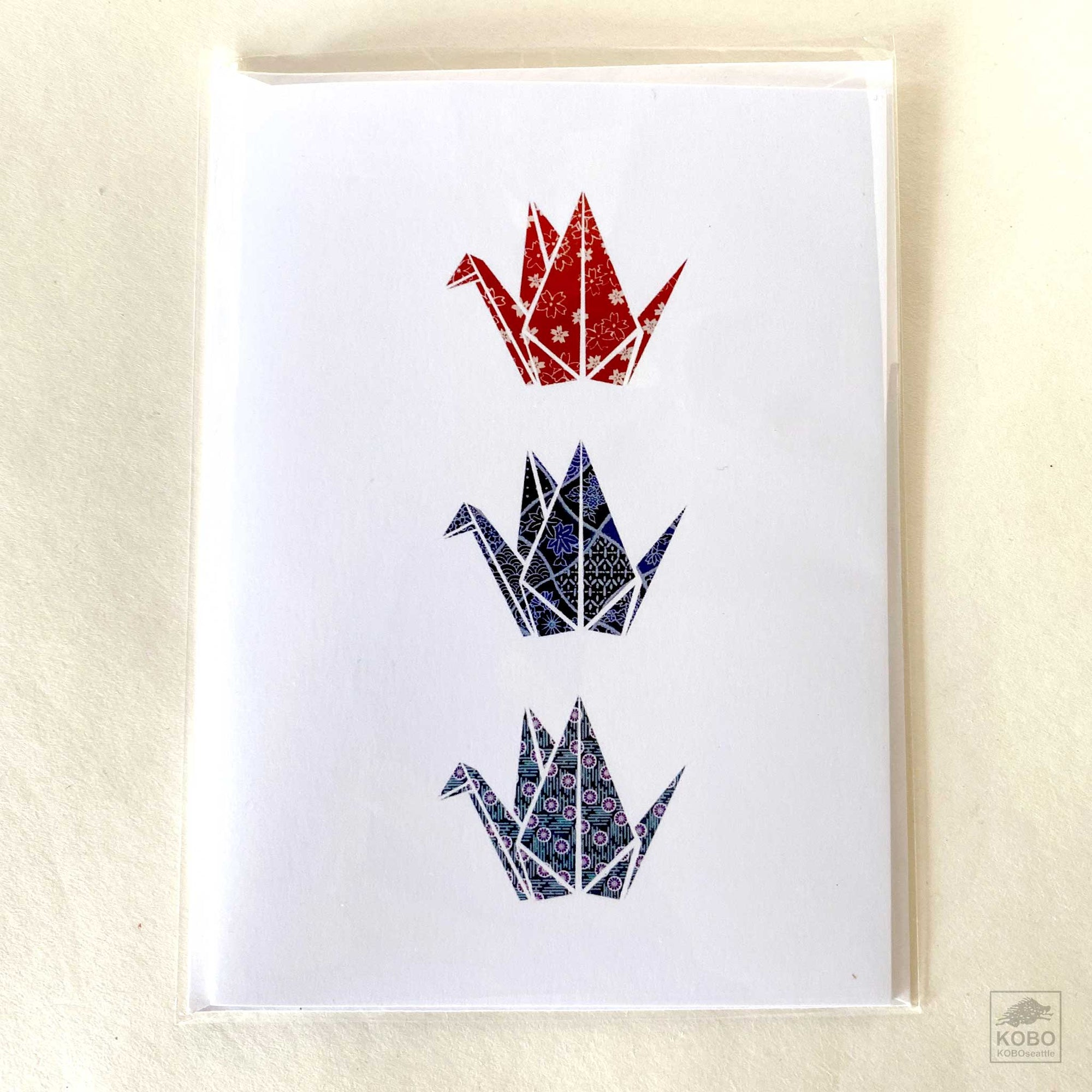 All Occasion Card - Three Cranes