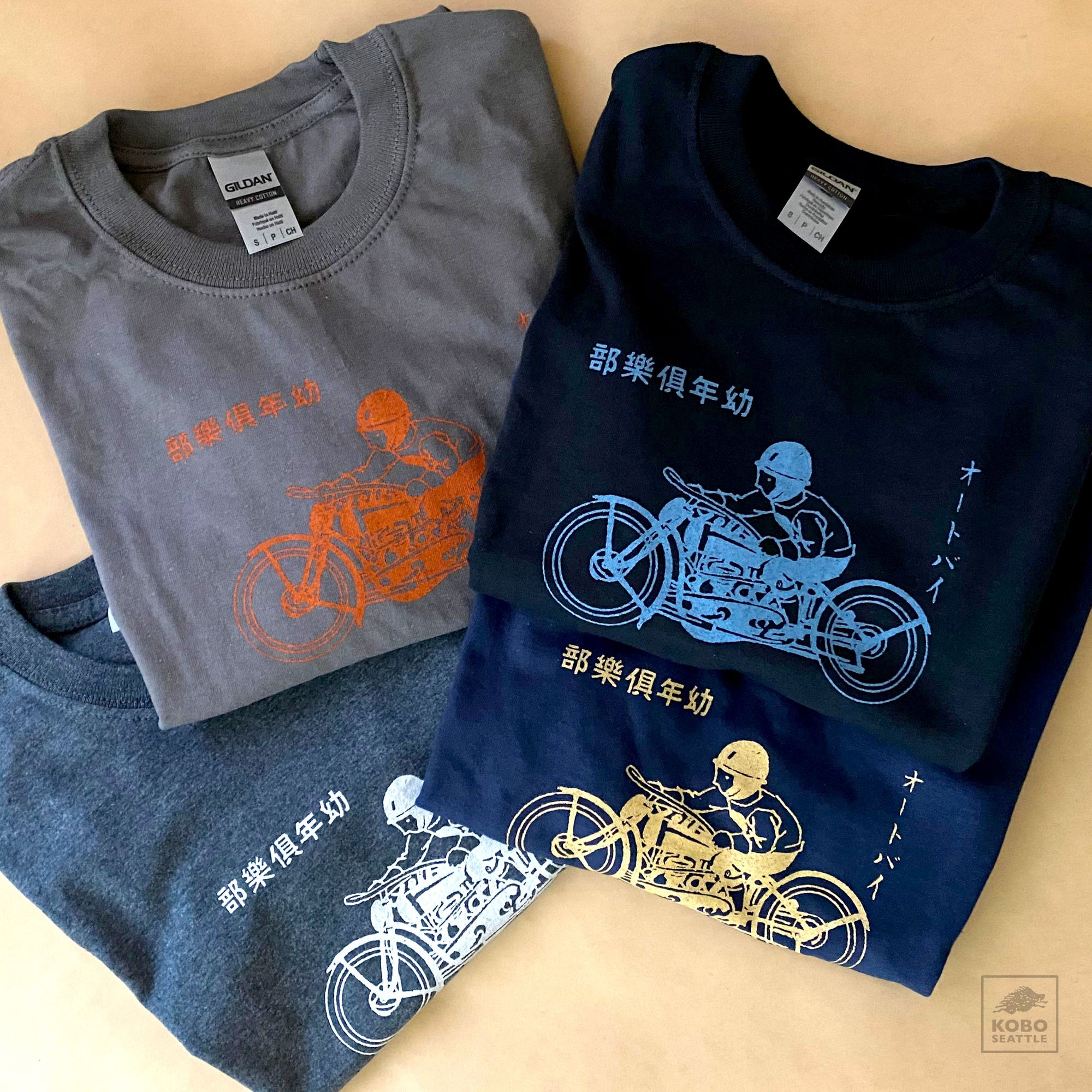 "Men's KOBO T-shirt - ""Motorcycle Club"""