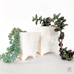 White Square Planter - two sizes