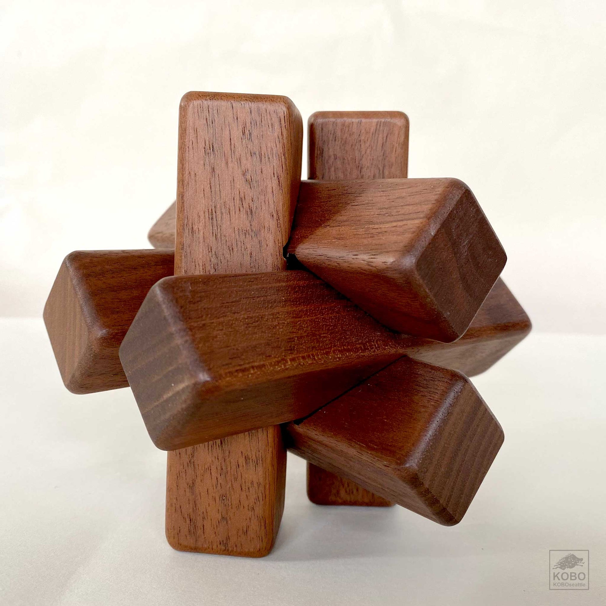 Walnut Wood Interlocking Puzzle