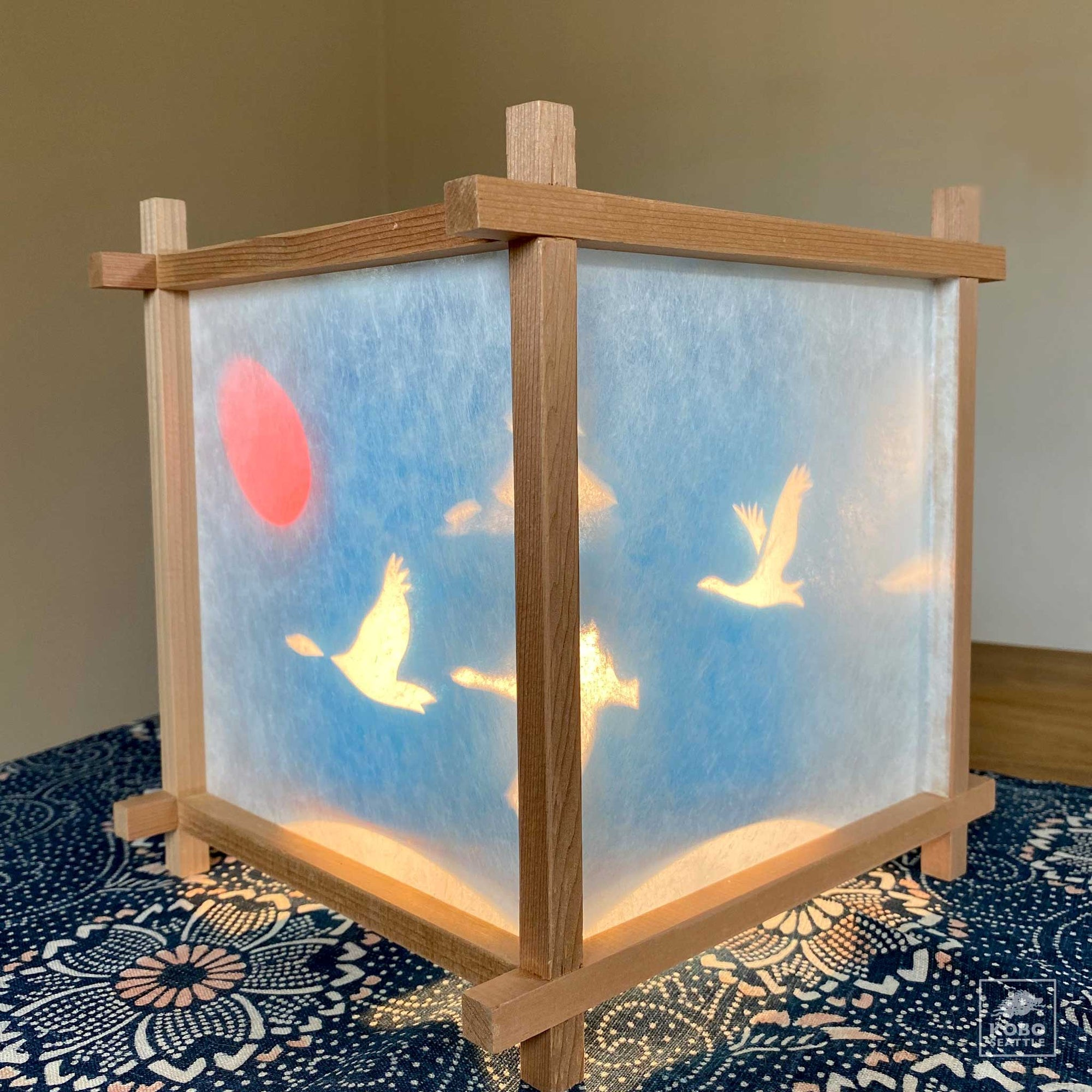 Japanese Turning Lantern - Geese Flying