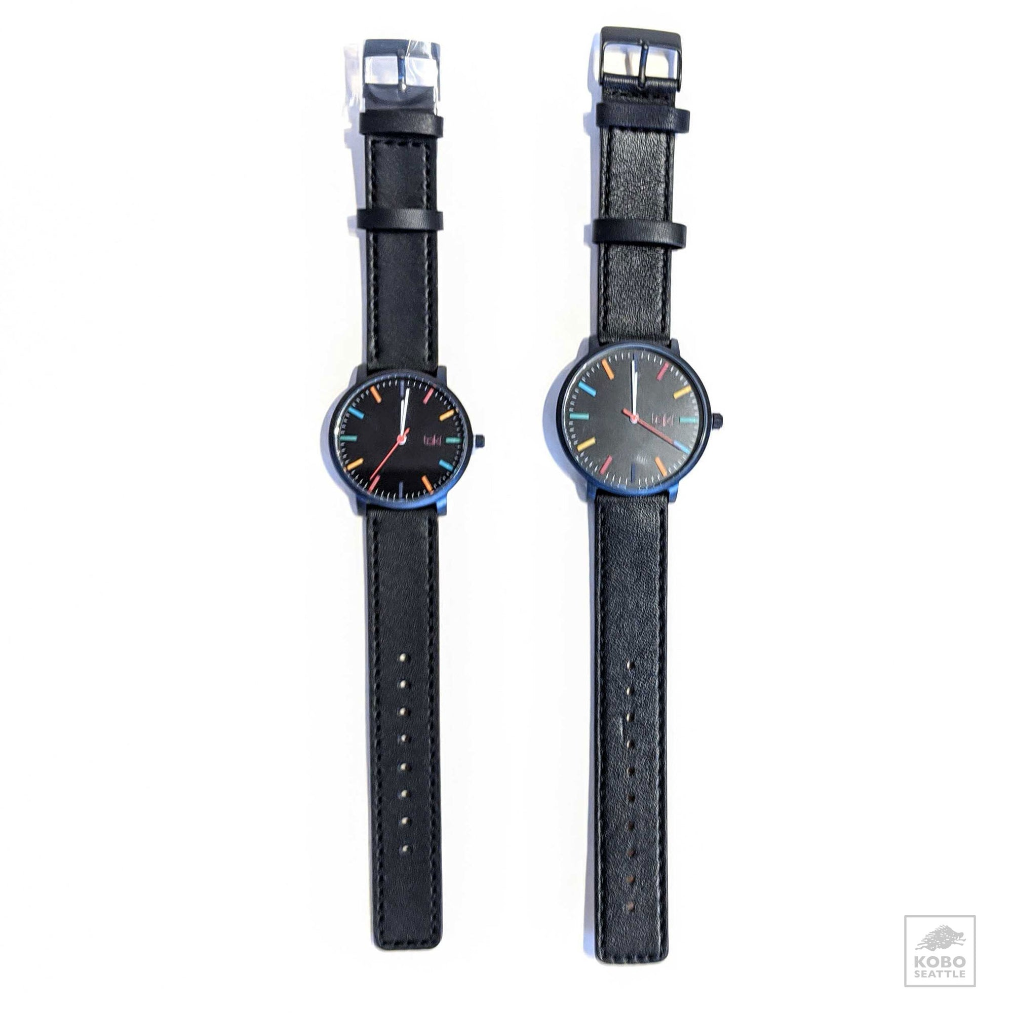 Taki Wrist Watch - Black/Black - two case sizes