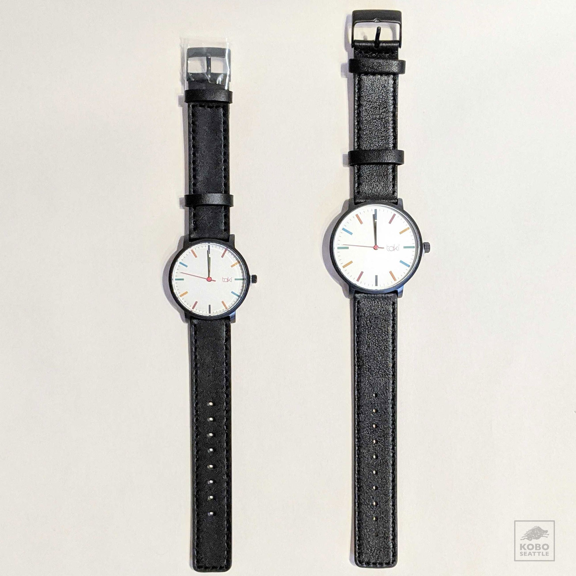 Taki Wrist Watch - Black/White - two case sizes