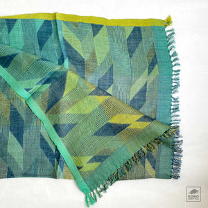 Handwoven Silk Stole - Chevron Design