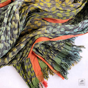 Handwoven Silk Crinkled Scarf - Jaguar 4