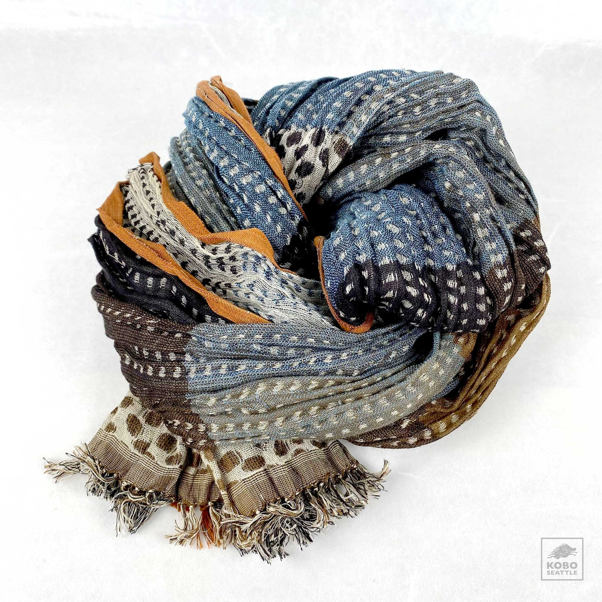 Handwoven Silk Crinkled Scarf - Jaguar