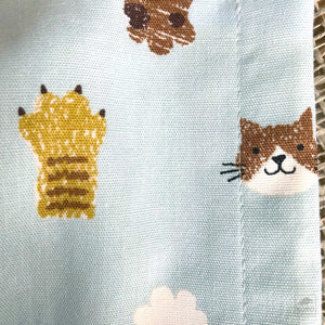 Japanese Fabric Face Masks - Cats and Paws Print