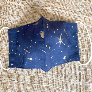 Japanese Fabric Face Masks - Night Sky
