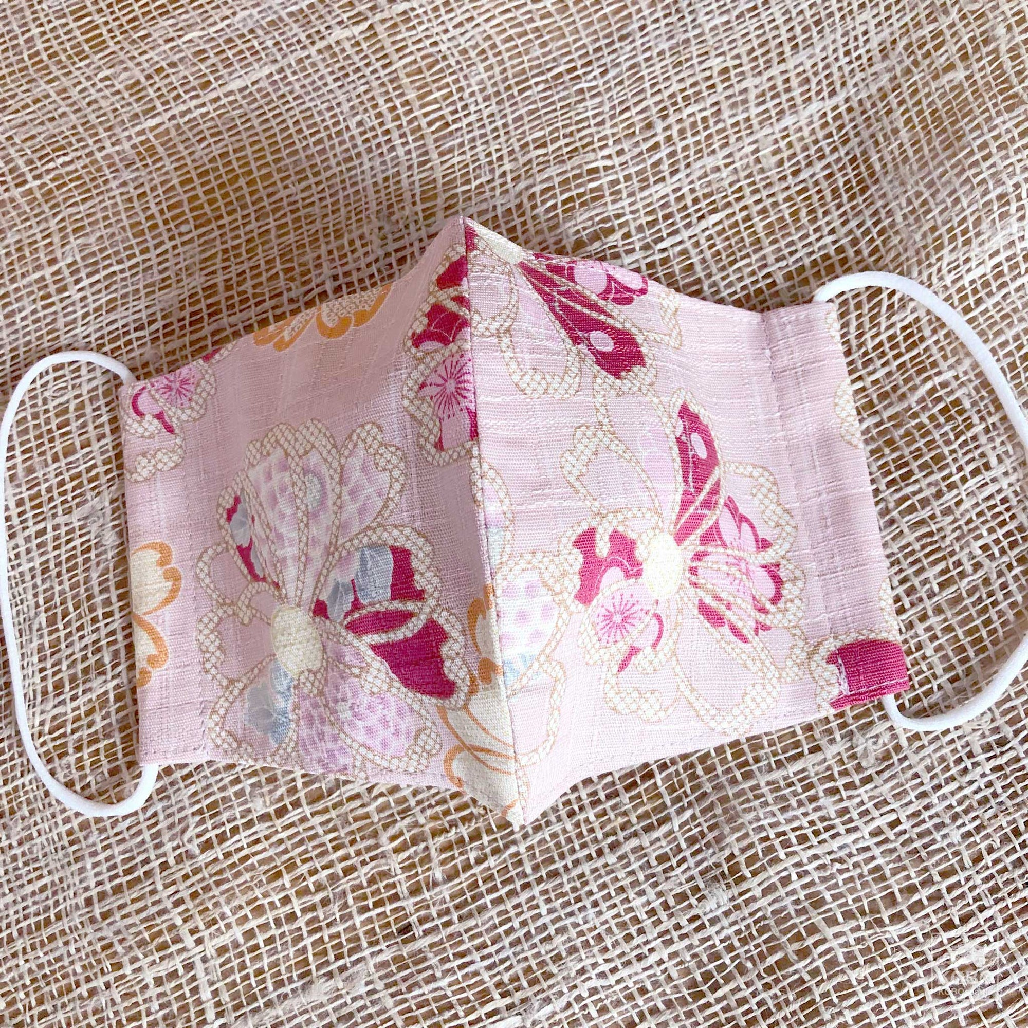 Japanese Fabric Face Mask - Pink Floral