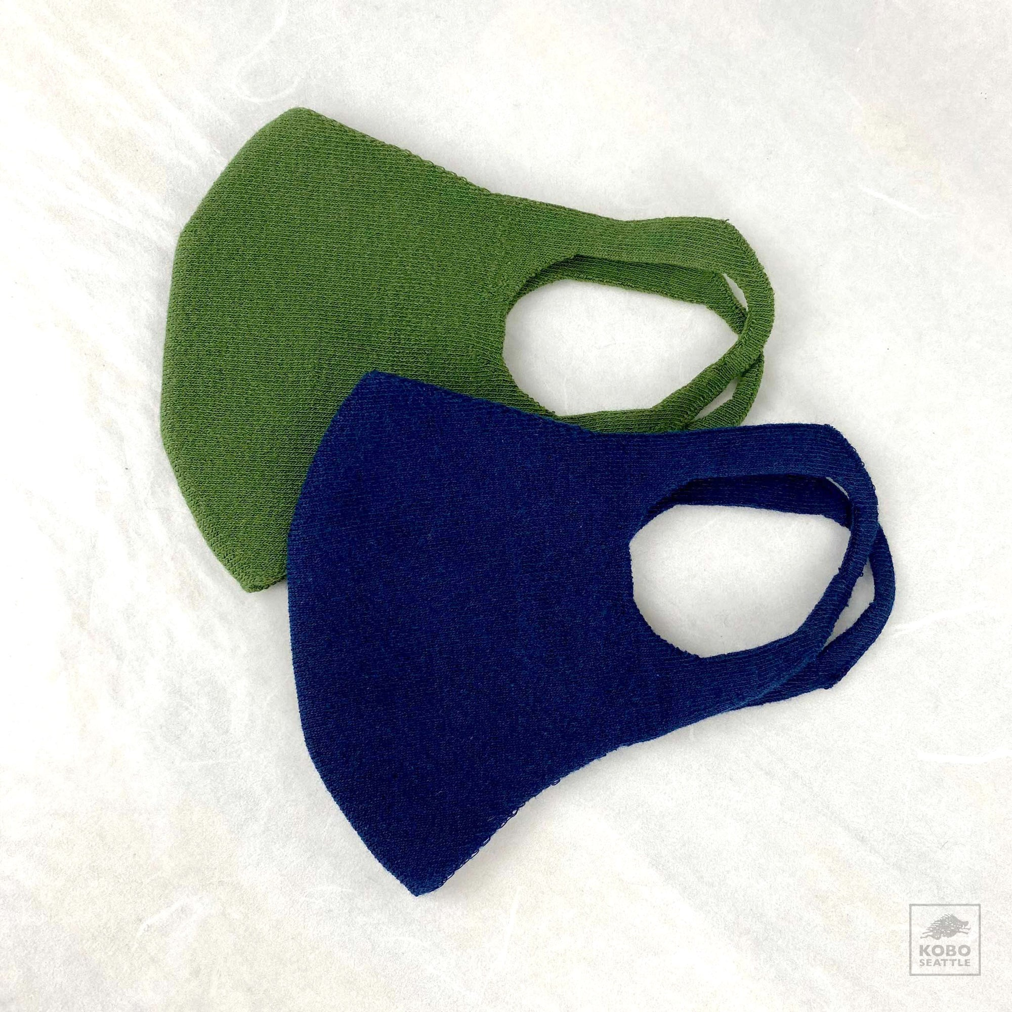 Organic Cotton Face Mask - Olive and Navy