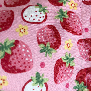 Japanese Fabric Face Masks - Strawberries