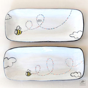 Bumble Bee Rectangle Plates