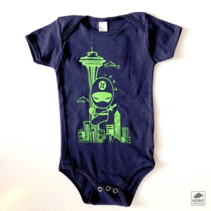 Kid's T-shirt & Onesie, Ninja at Space Needle by Namu
