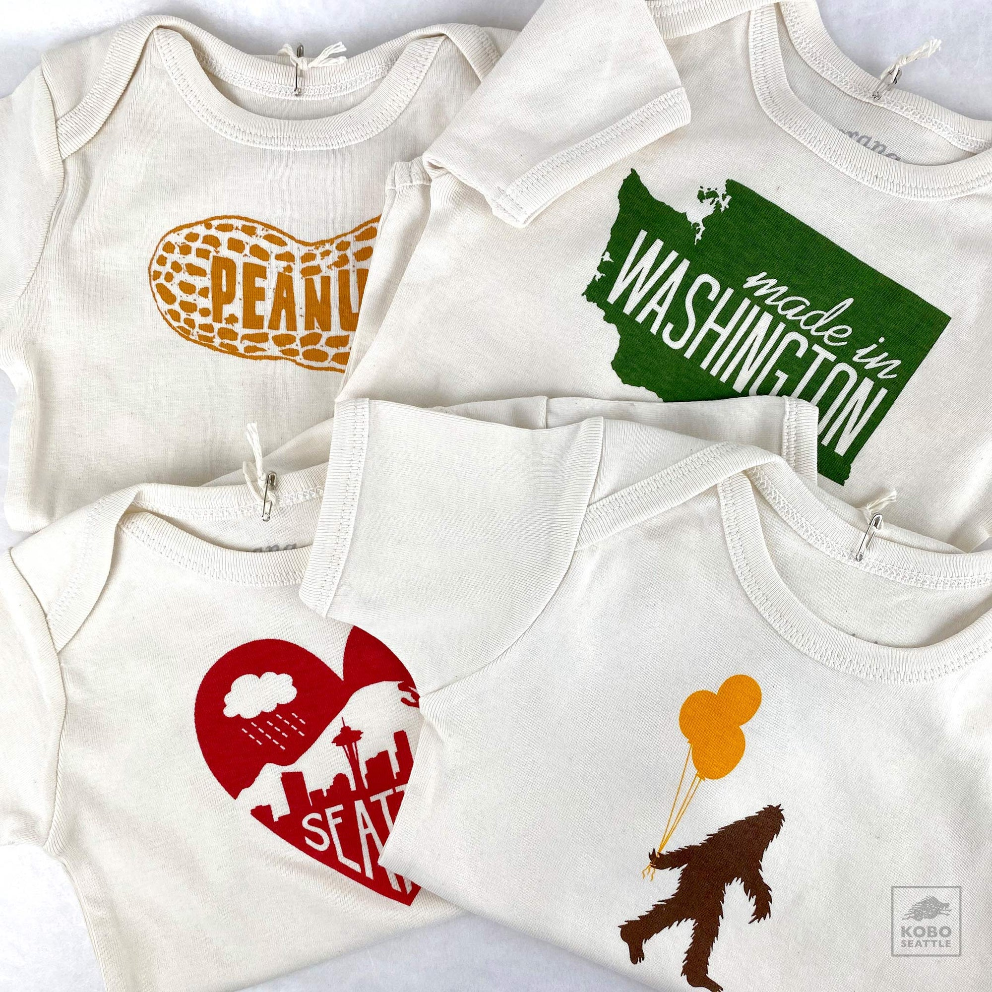 Pacific Northwest  Organic Cotton Baby Romper - 4 designs