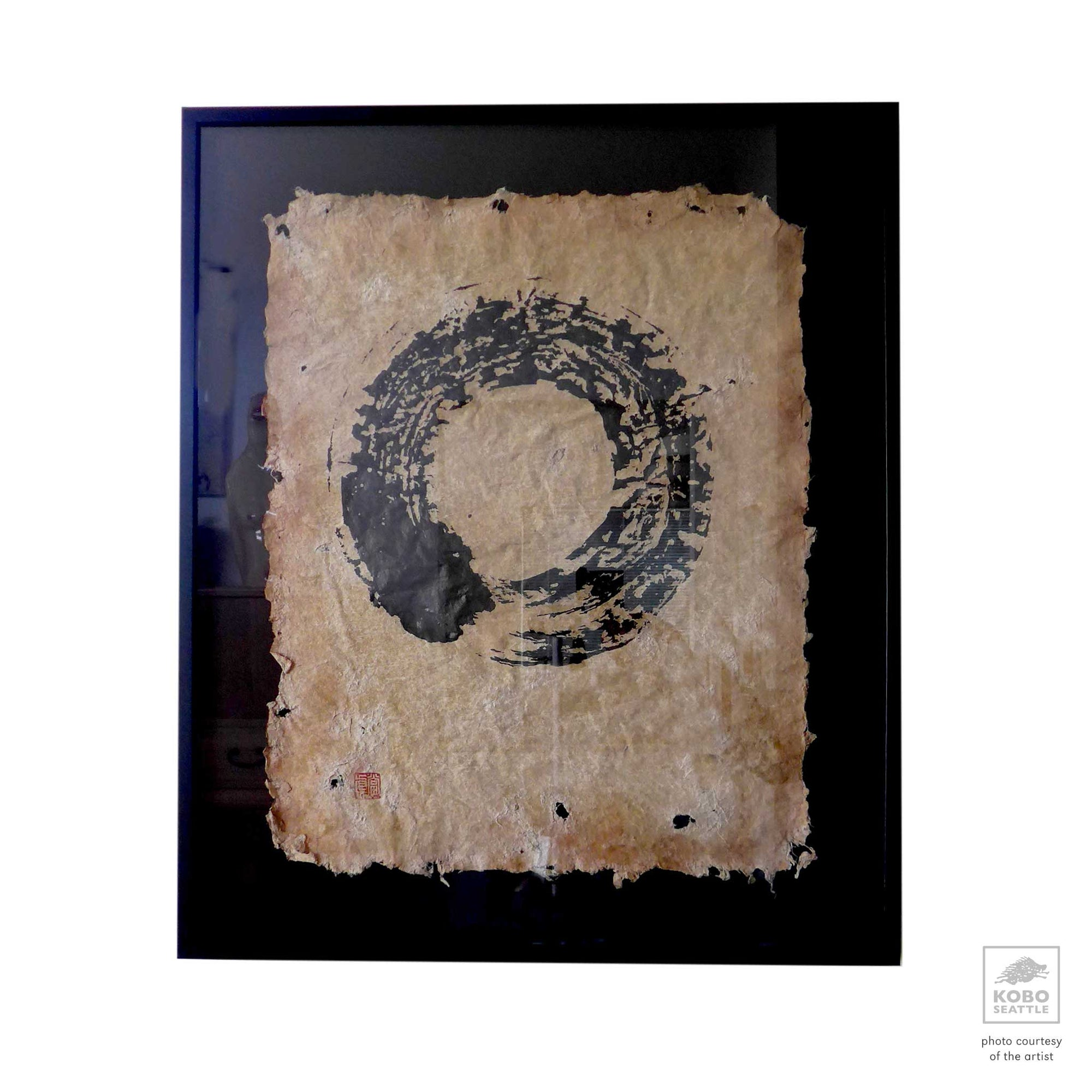 "円 相 Ensō ,""Circle Painting"" 5 (Framed)"