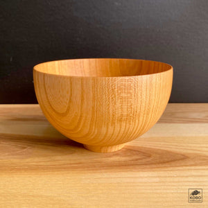 Japanese Elm Bowl - Sensai Natural & Black
