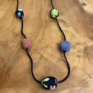 Chirimen Ball Necklace E