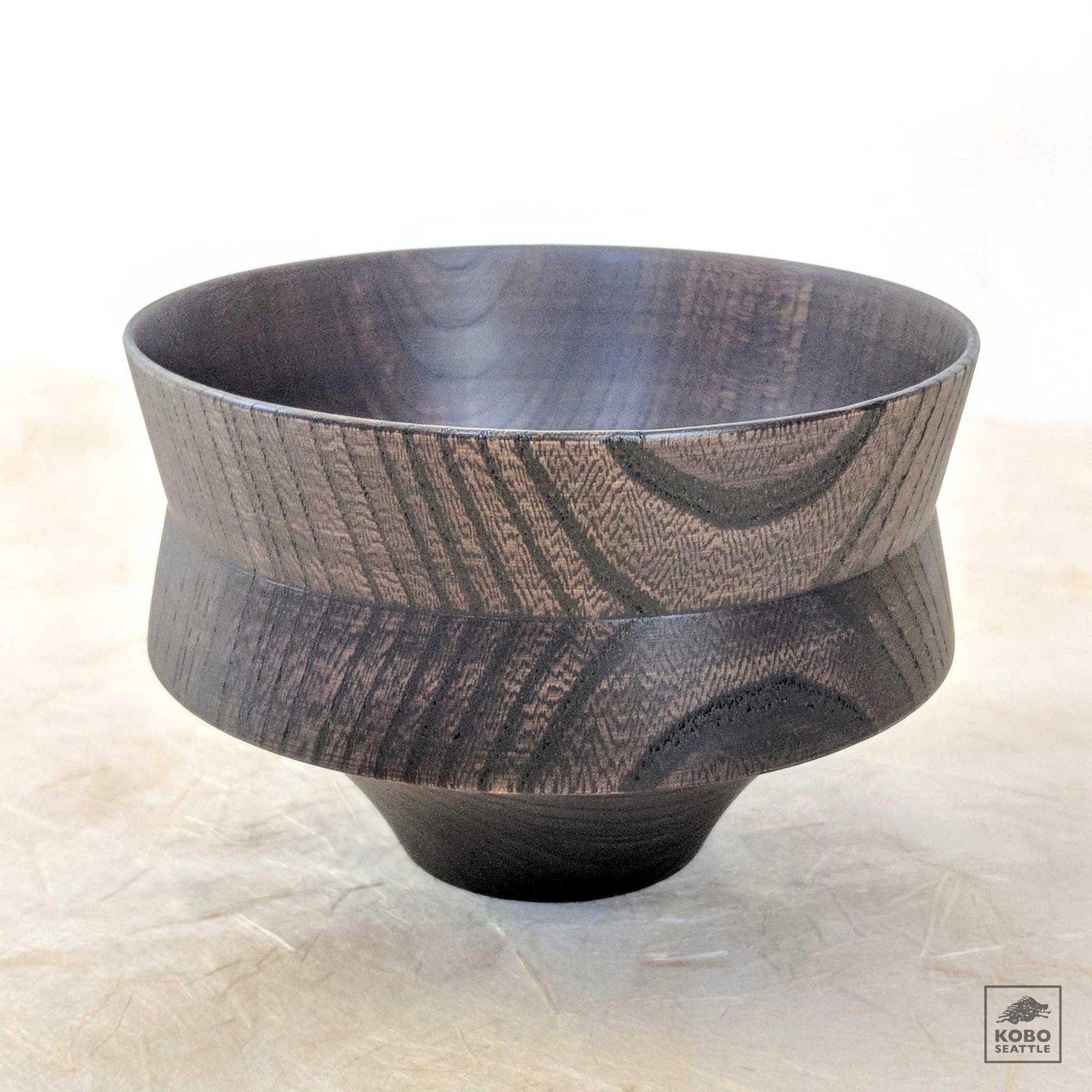 Japanese Elm Bowl - Kine Natural & Black