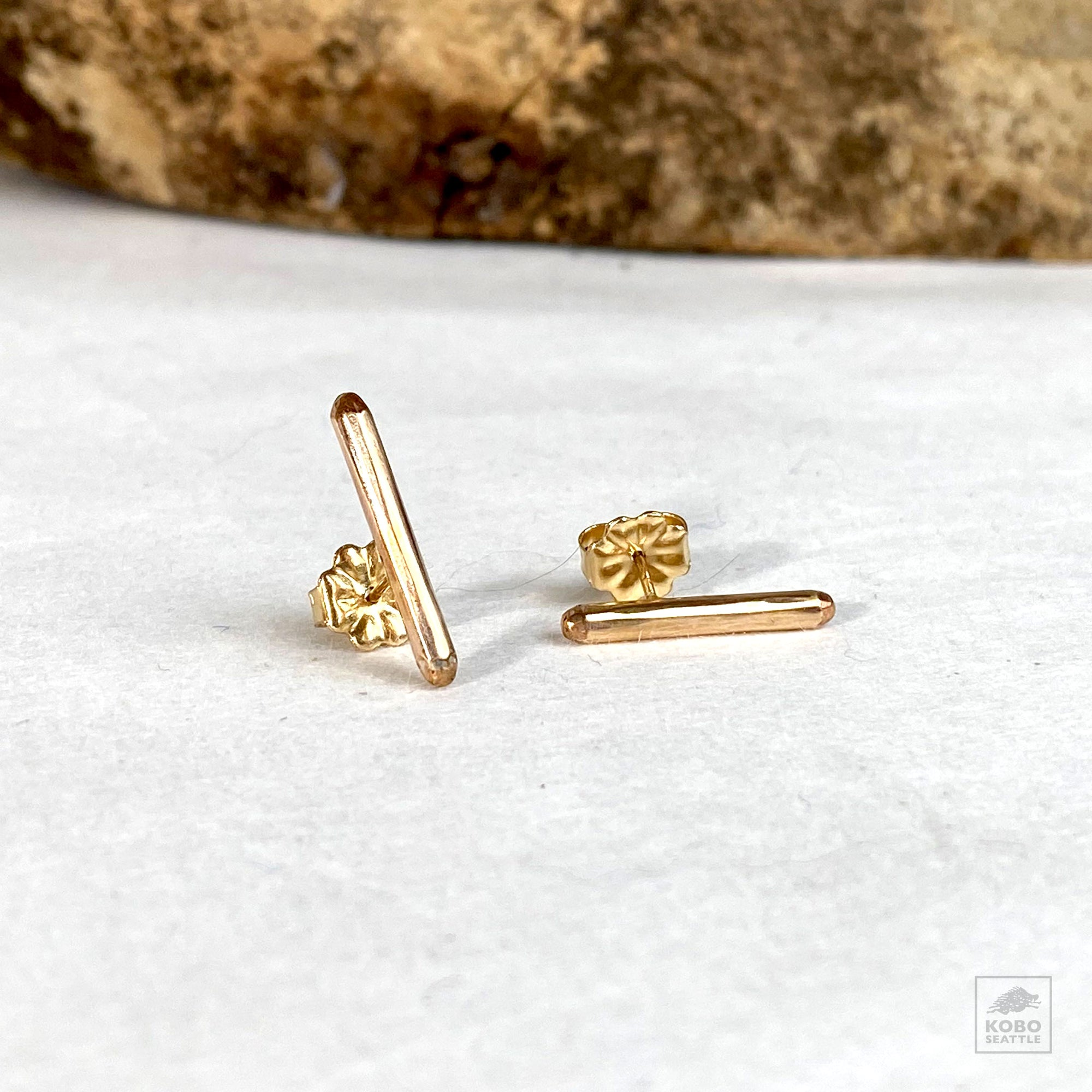 Zuzko Bar Studs - 14k Gold Fill