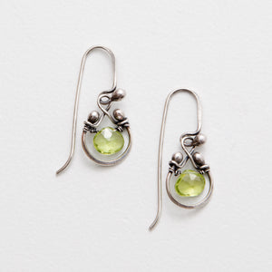 Zuzko Horseshoe Earrings - Peridot, Sterling Silver