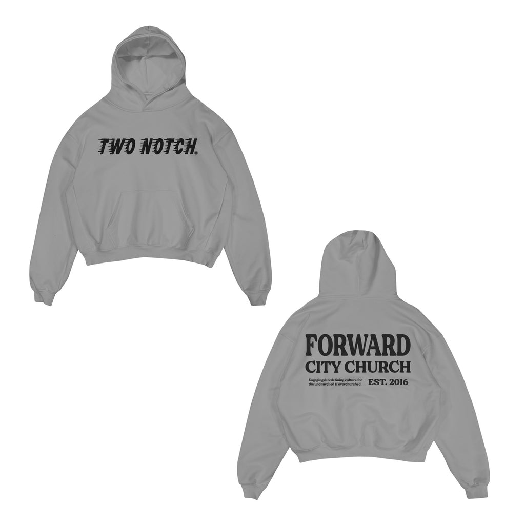 TWO NOTCH HOODIE : : LIGHT STEEL