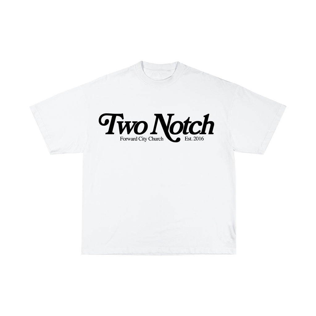 TWO NOTCH T-SHIRT : : WHITE