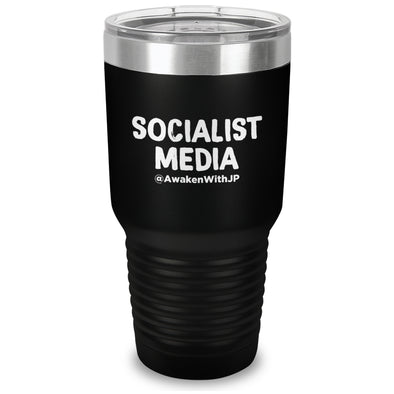 Socialist Media Laser Etched Drinkware