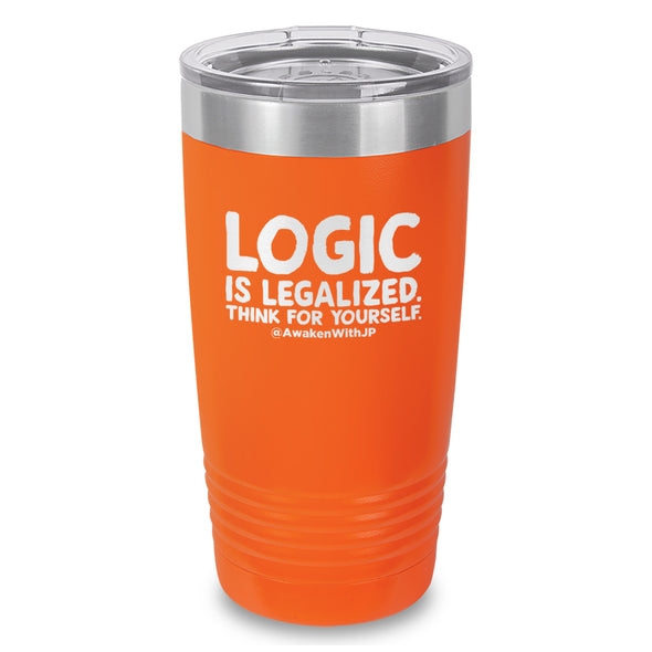 Logic Is Legalized Laser Etched Drinkware