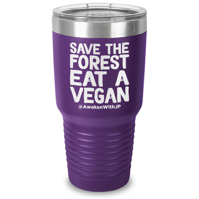Save The Forest Eat A Vegan Laser Etched Drinkware