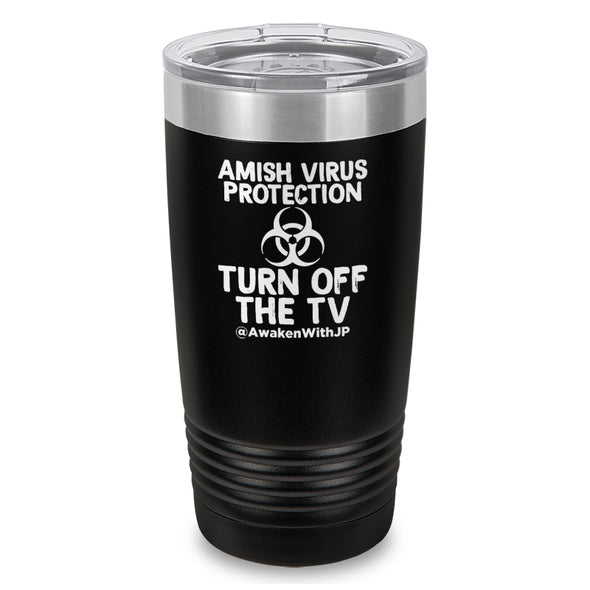 Amish Virus Protection Laser Etched Drinkware
