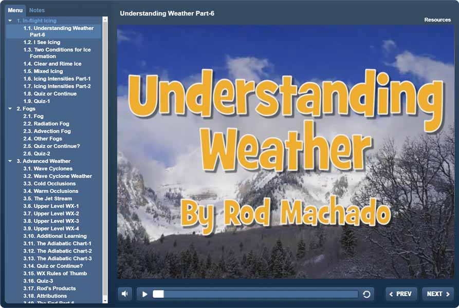 Understanding Weather - Rod Machado's Interactive eLearning Course
