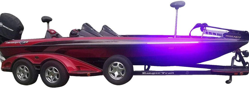High Output Ultra Violet UV Black Light LED Light Strip for Bass Boats & Night Fishing