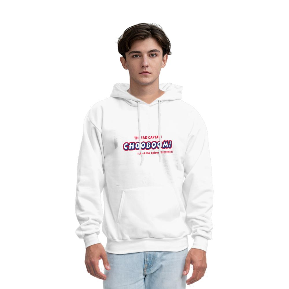 THREAD CAPTAIN CH00BOOM! check the bylaws White Men's French Terry Hoodie