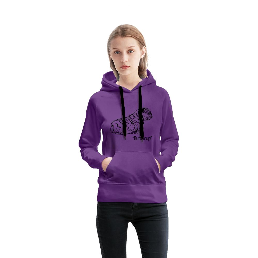 Buttercup Black Logo Purple Women's French Terry Hoodie