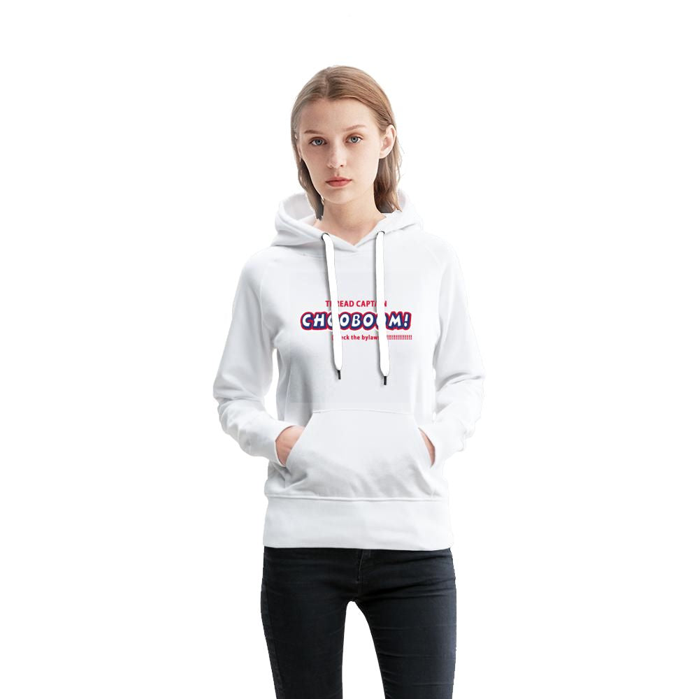 THREAD CAPTAIN CH00BOOM! check the bylaws White Women's French Terry Hoodie